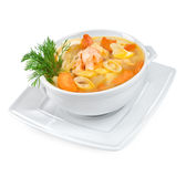Soup from seafood Stock Photography