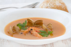 Soup with seafood Stock Photography
