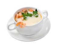 Soup with seafood.isolated Stock Images
