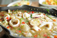 Soup with seafood Royalty Free Stock Photography