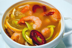 Soup with seafood1 Royalty Free Stock Photography