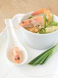 Soup with shrimps Stock Images