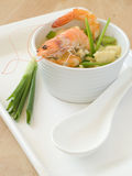 Soup with shrimps Royalty Free Stock Images