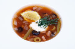 Soup Solyanka Stock Images