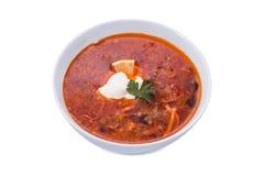 Soup solyanka russian national Royalty Free Stock Photos