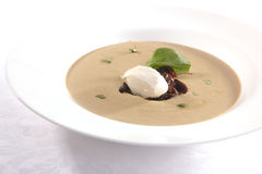 Soup with sour cream Royalty Free Stock Photos
