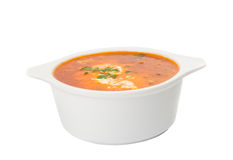 Soup with sour cream Royalty Free Stock Image