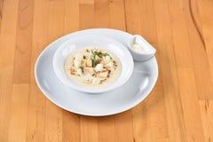 Soup Sparrowgrass With Cream stock photos