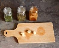 Soup spice and garlic Stock Photos