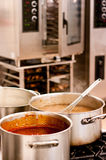 Soup on the stove Stock Photos