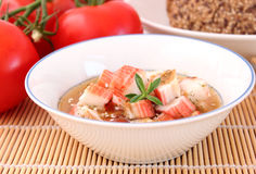 Soup of surimi Stock Photos