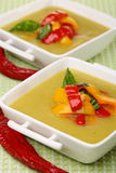 Soup of sweet pepper. Stock Photography
