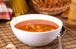Soup on table Royalty Free Stock Images