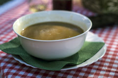 Soup on the table Royalty Free Stock Image