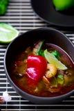 Soup Tom yam kung . Stock Photos