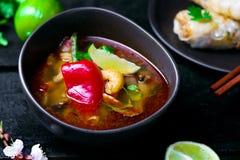 Soup Tom yam kung . Stock Image
