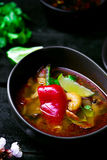 Soup Tom yam kung . Royalty Free Stock Photography