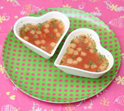 Soup of tomatoes Royalty Free Stock Photos