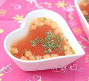 Soup of tomatoes Stock Image
