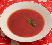 Soup of tomatoes Royalty Free Stock Images