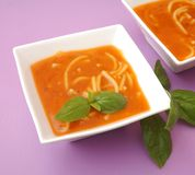Soup of tomatoes Royalty Free Stock Photo