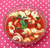 Soup of tomatoes Stock Photos