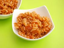 Soup of tomatoes with noodles Royalty Free Stock Photos