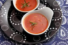 Soup of tomatoes with rice Stock Images