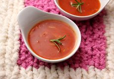 Soup of tomatoes with rice Royalty Free Stock Photos