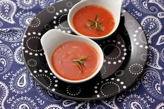 Soup of tomatoes with rice Royalty Free Stock Photo