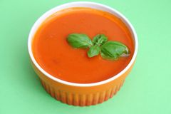 Soup of tomatoes Stock Images
