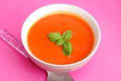 Soup of tomatoes Stock Photography