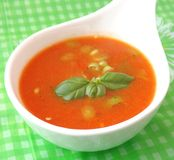 Soup of tomatoes Stock Photo