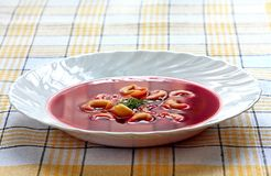 Soup with tortellini Stock Photo