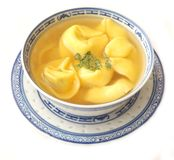 Soup with tortellini Stock Photos