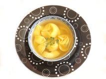 Soup of tortellini Stock Photo