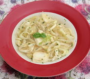 Soup with tortellini Royalty Free Stock Images