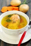 Soup with trout. Stock Photography