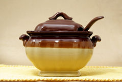 Soup tureen royalty free stock images
