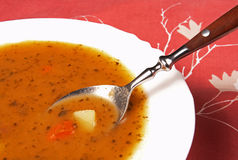Soup. A typical soup from Eastern Europe Stock Photos