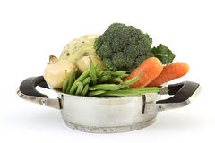 Soup vegetables in a cooking pot Royalty Free Stock Image