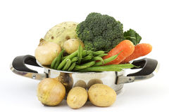 Soup vegetables in a cooking pot Stock Photo