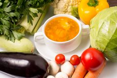 Soup with Vegetables Royalty Free Stock Image