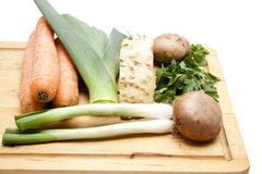Soup vegetables freshly with champignon Royalty Free Stock Photos