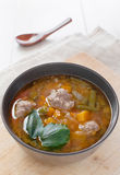Soup with vegetables and meatballs Royalty Free Stock Photos