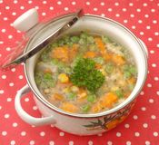 Soup of vegetables Royalty Free Stock Images