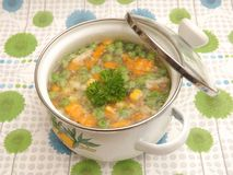 Soup of vegetables Stock Images