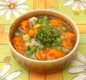 Soup of vegetables Royalty Free Stock Photos