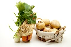 Soup vegetables and potatoes Royalty Free Stock Photos