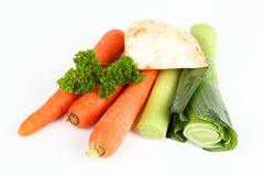 Soup vegetables. With white background Stock Images
